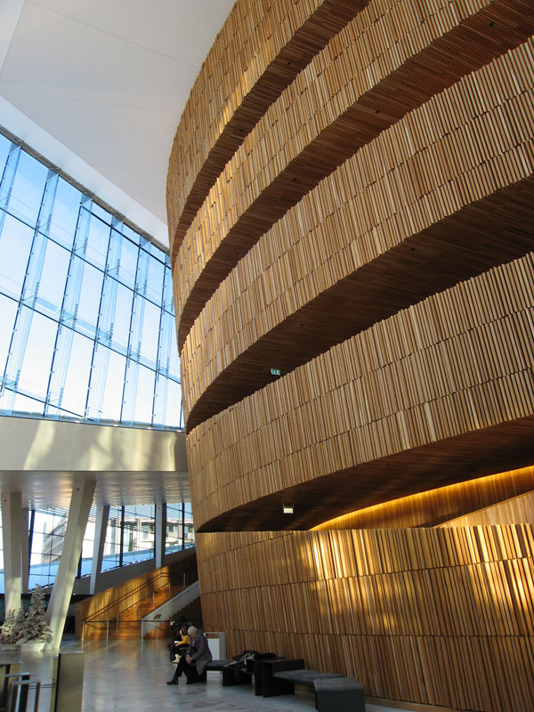 Glass and wood structure of the Opera House