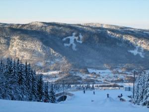 Mountain with ski slope