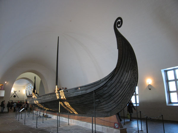 Wooden viking ship