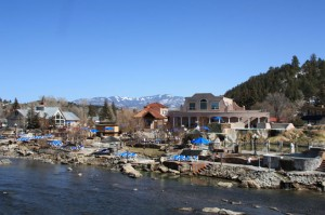Pagosa hot springs on the banks of the San Juan River