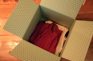 Clothes in box