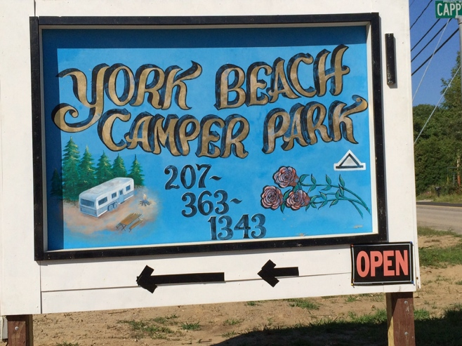 Sign for York Beach Campground