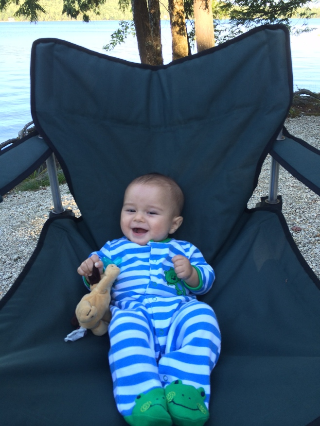 Baby in a camping chair