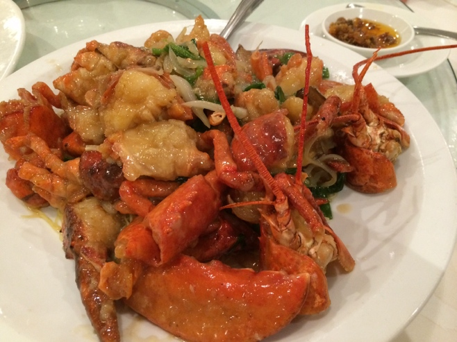 Chinese lobster dish