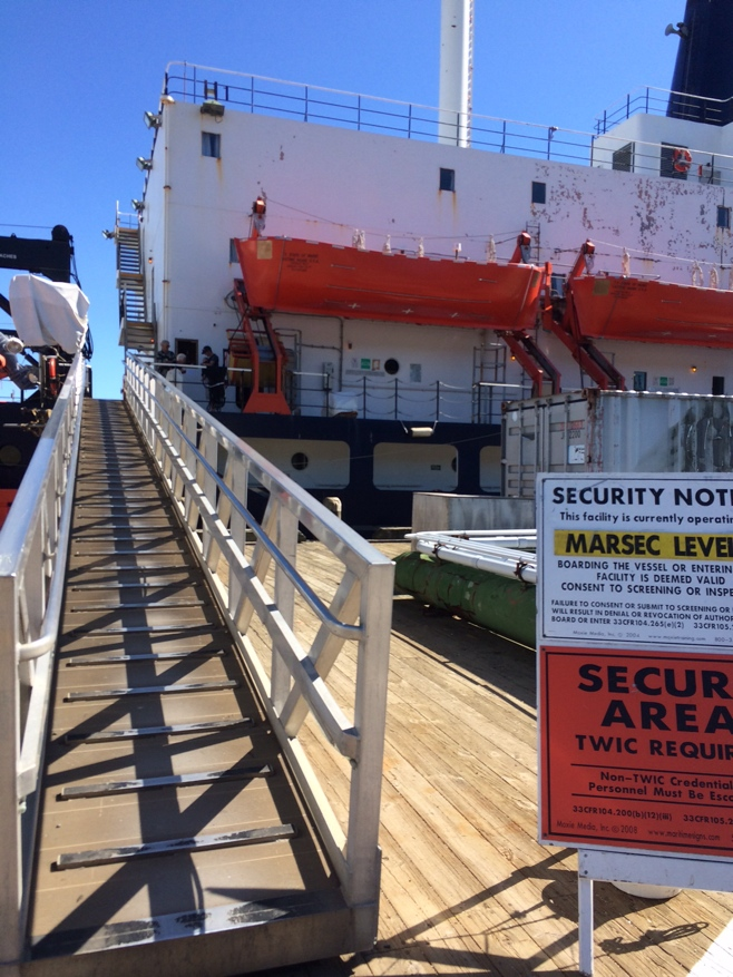 Gangway to ship