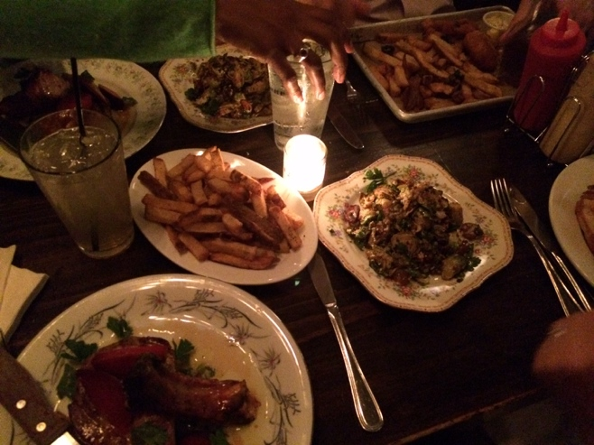 Pub dinner on the table