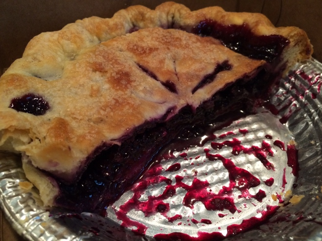 Half a Maine blueberry pie