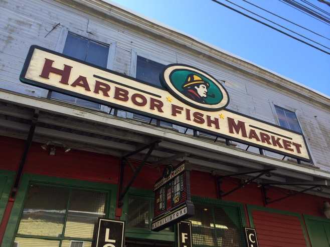 Harbor fish market sign