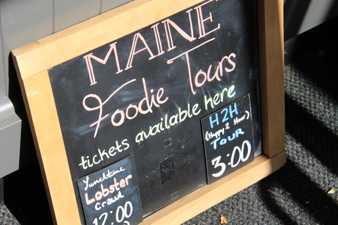 Maine foodie tour sign