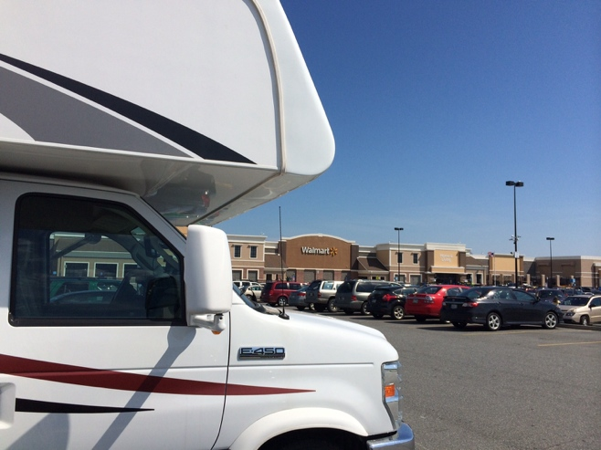 RV in a walmart car park