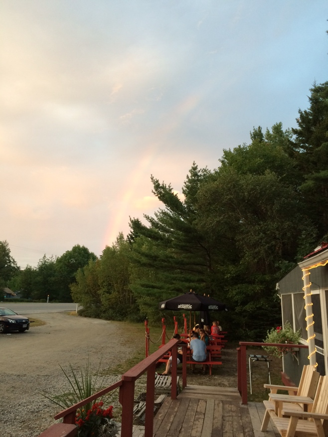 Rainbow over the lobster pound