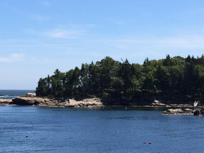Maine coastline with sea and rocky coves