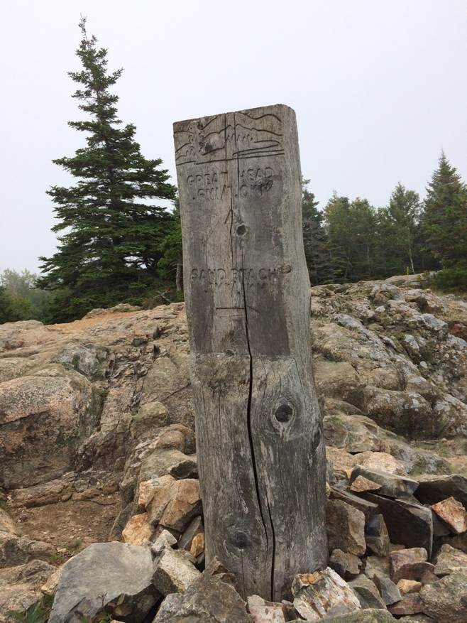Sign post for great head trail