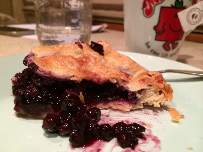 Slice of Maine blueberry pie
