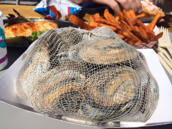 Steamers on a plate