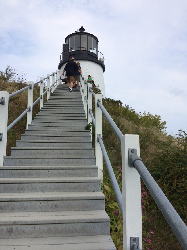 Steps leading to a lighthouse