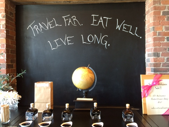 Travel far eat well live long motto