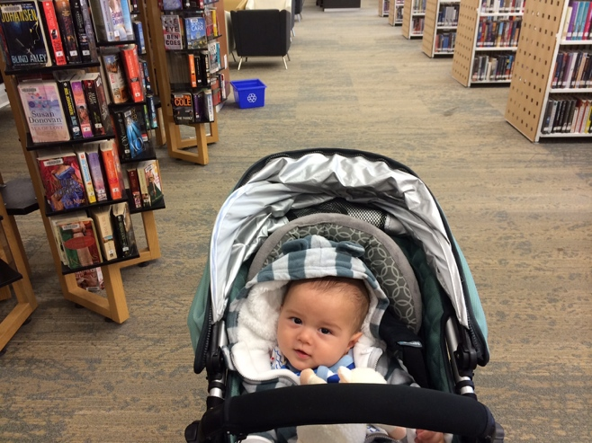 Baby in the library