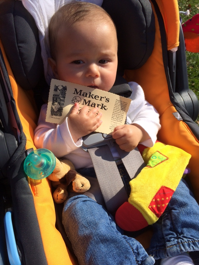 Baby with makers mark label