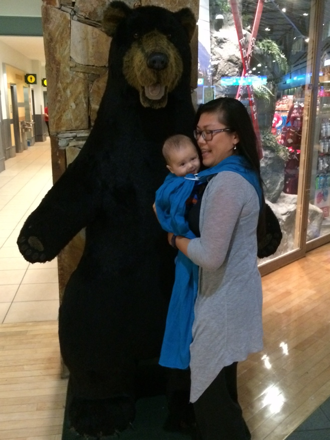 Me and baby with bear