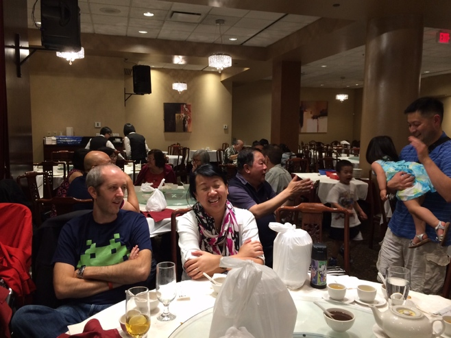 Family at Grand Palace Chinese restaurant