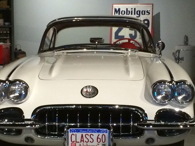 White 1960 corvette