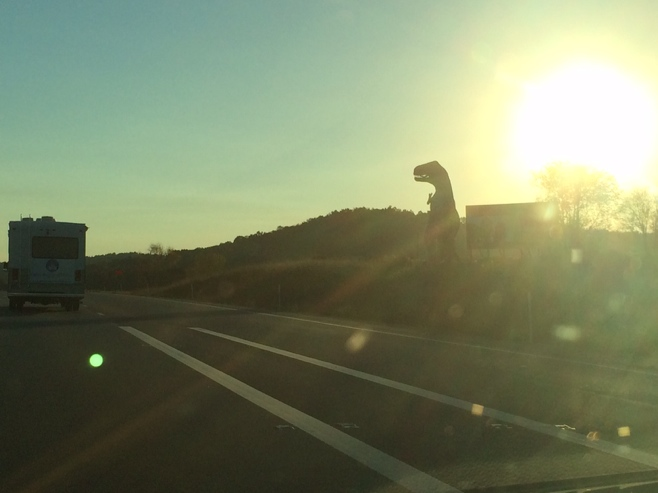 Dinosaur by the interstate