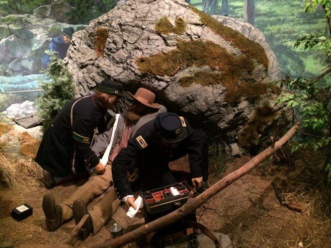Diorama of civil war soldiers