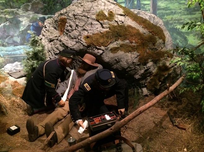 Diorama of civil war soldiers