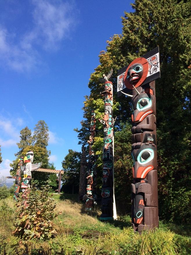 Several totem poles