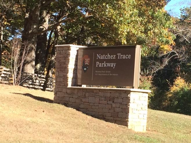 Nachez trace parkway sign