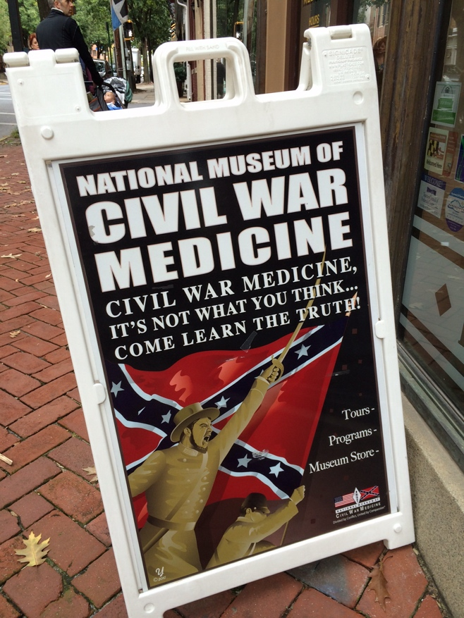 National museum of civil war medicine sign