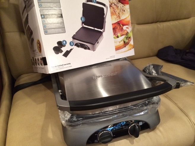 New electric tabletop grill