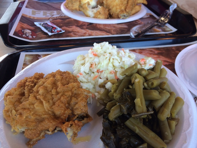 Plate of KFC