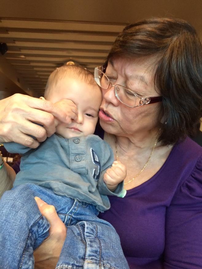 Baby and grandma