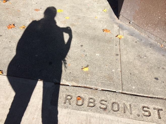 Shadow on Robson street