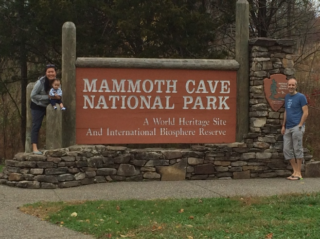 Sign for mammoth caves national park