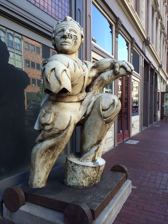 Statue on main st Louisville
