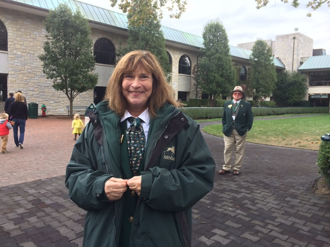 Greeter at Keeneland race track