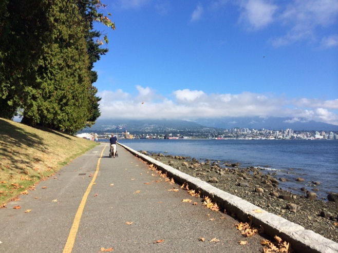 Walk along Stanley park sea wall