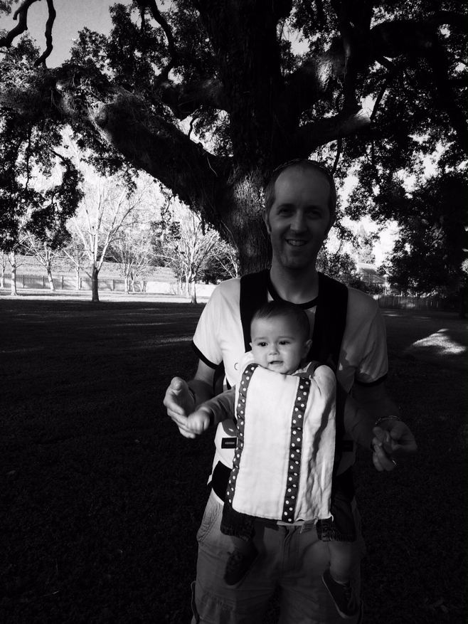 Baby Boy O and dad at Laura plantation