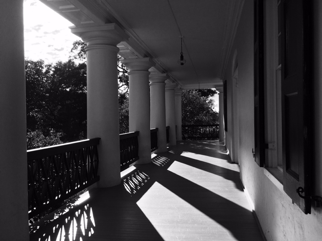 Balcony at oak alley plantation