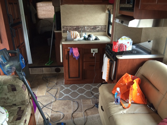 Cleaning up the RV for storage