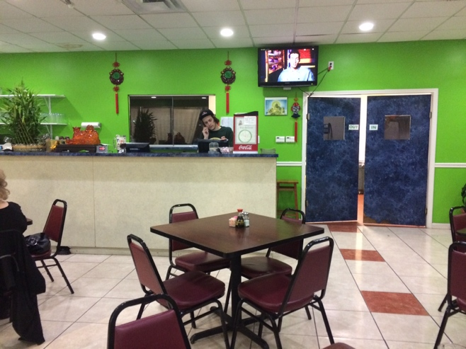 Vietnamese restaurant with green walls