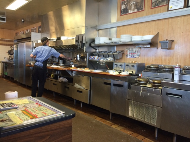 Kitchen in Waffle House