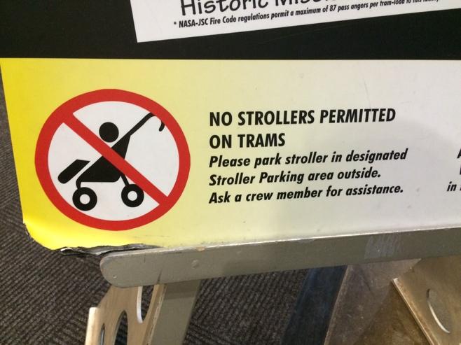 No stroller sign