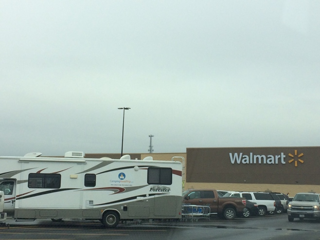RV in Walmart carpark
