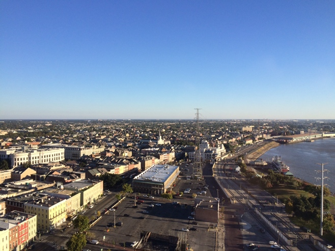 View of French quarter from 14th floor