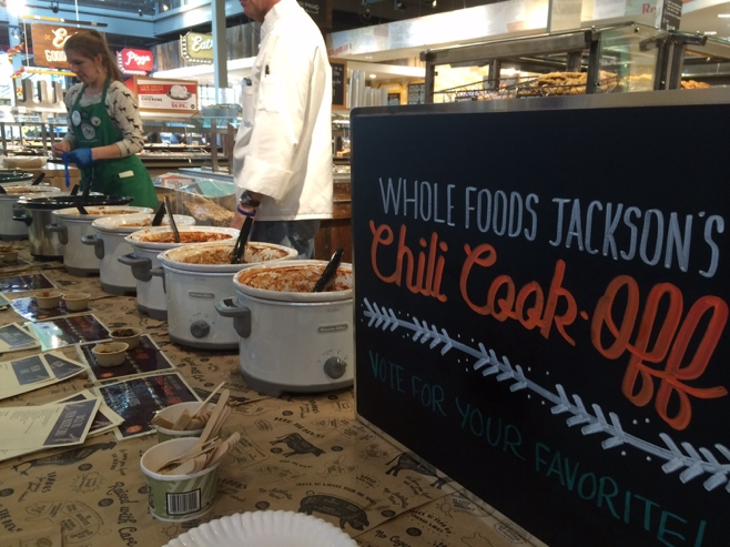 Whole foods chili cook off