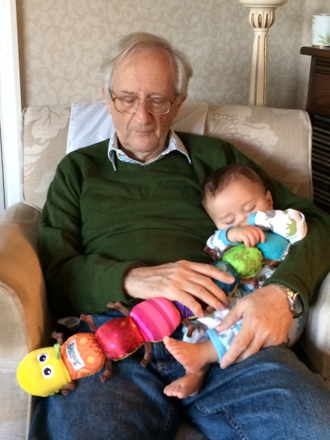 Baby and grandpa sleeping